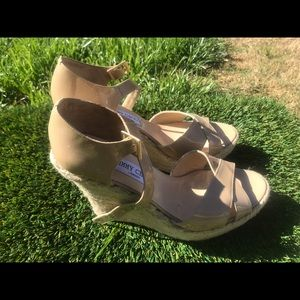 Women's Jimmy Choo Palis Wedge Sandal sz 11.5